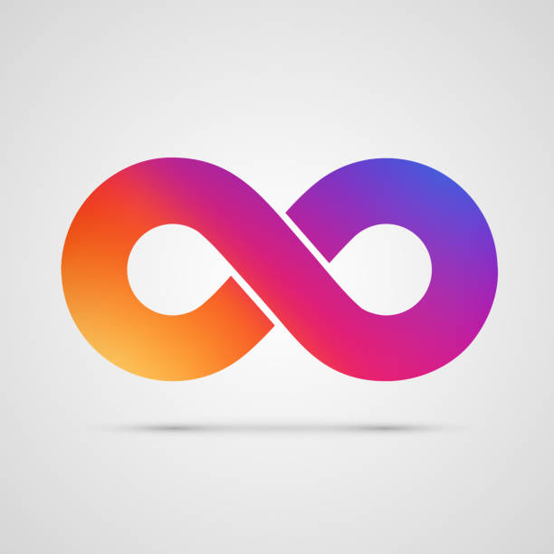 Infinity symbol with color gradient. Infinity symbol with color gradient. Vector illustration eternity stock illustrations