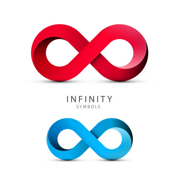 Infinity Symbols. Vector Loop Icons. Infinity Symbols. Vector Loop Icons. Endless Shape Logo. eternity stock illustrations