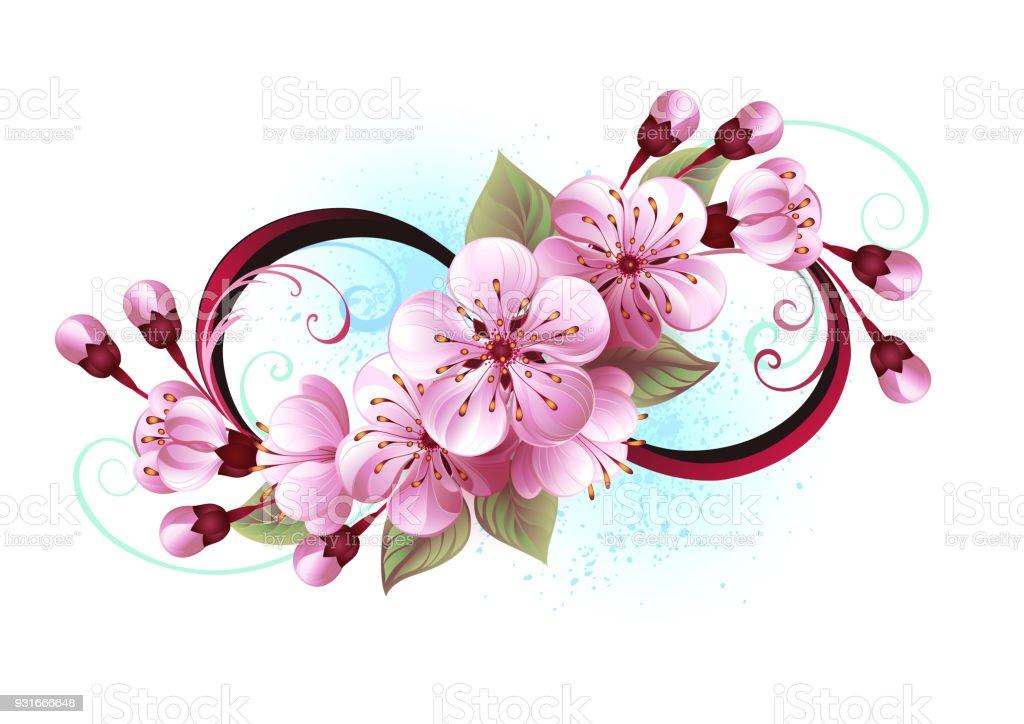 Infini A La Fleur De Sakura Cliparts Vectoriels Et Plus D Images