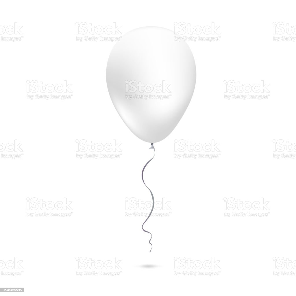 Inflatable air flying balloon isolated on white background vector art illustration