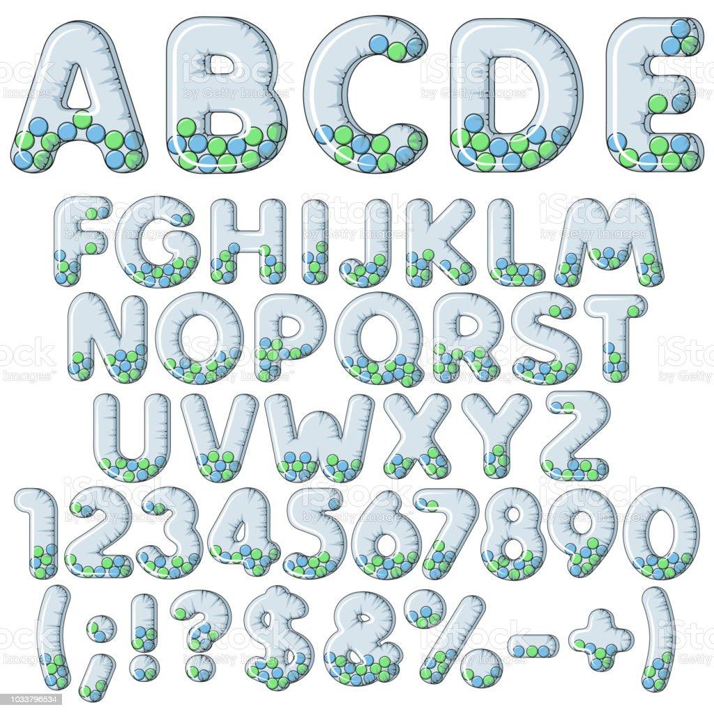 Aufblasbare Alphabet Buchstaben Zahlen Und Zeichen Mit Kugeln Satz