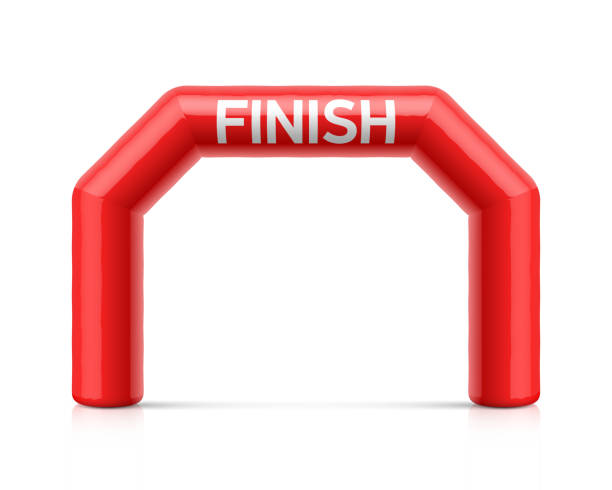 inflatable finish line arch - finish line stock illustrations, clip art, cartoons, & icons