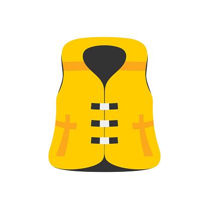 inflatable life jacket isolated on white background
