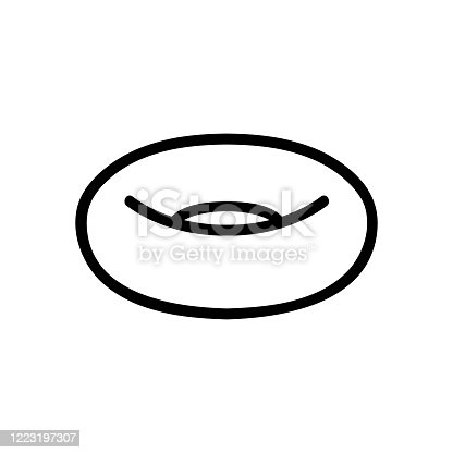 inflatable swimming ring side view icon vector. inflatable swimming ring side view sign. isolated contour symbol illustration