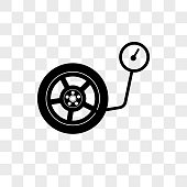 Inflate Wheel vector icon on transparent background, Inflate Wheel icon