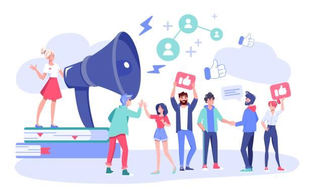 influencer digitalmarketing follower attraktion - feedback stock-grafiken, -clipart, -cartoons und -symbole
