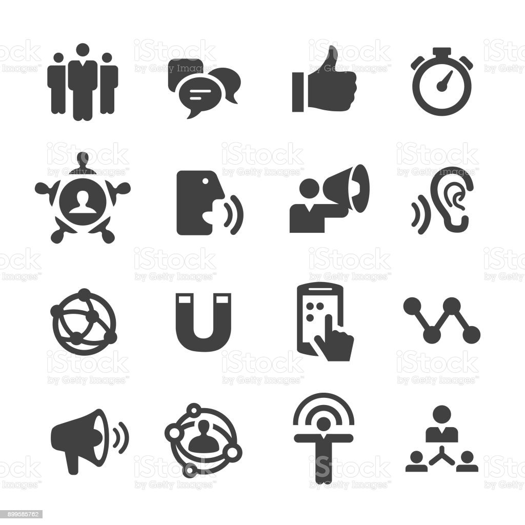 Influencer Marketing Icons - Acme Series