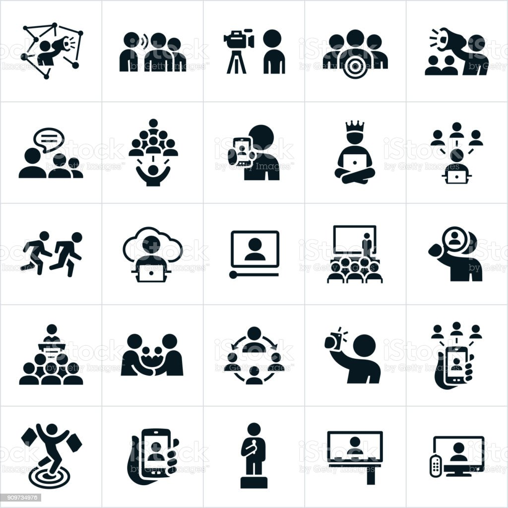 Influencer Marketing Icons