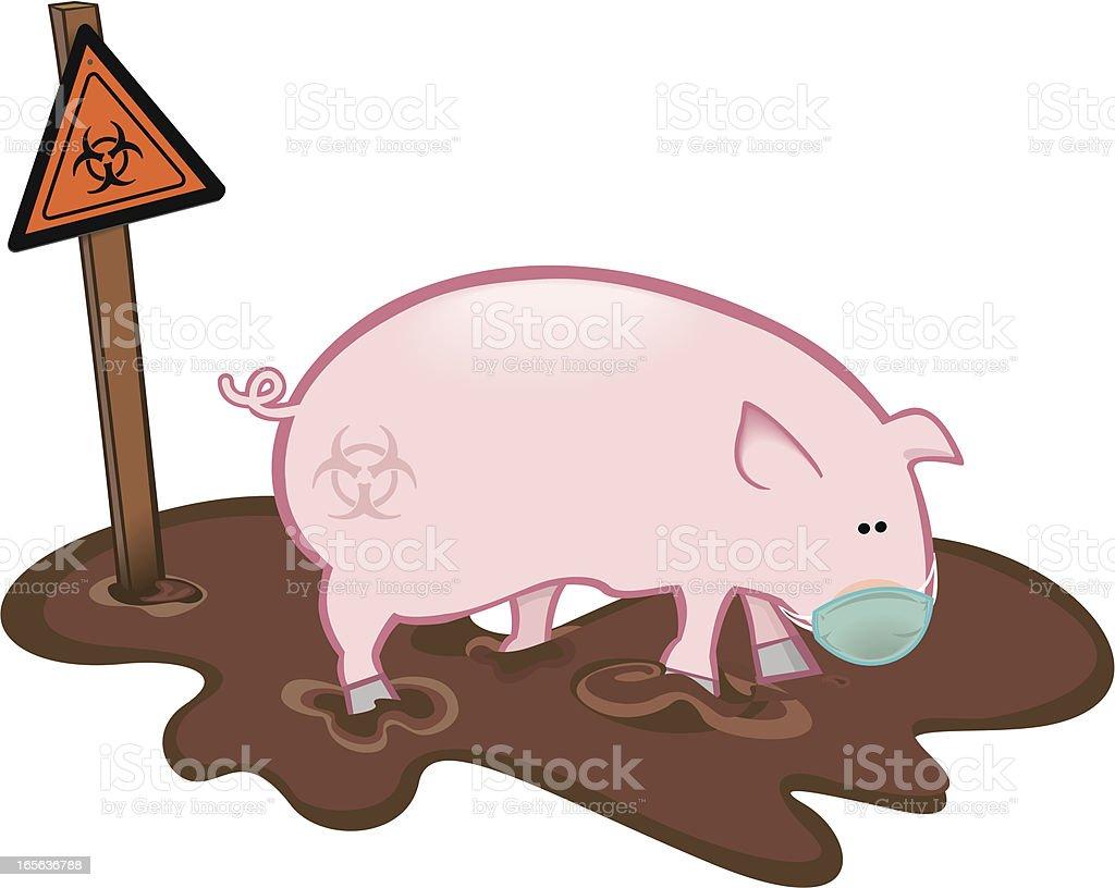 Influenza porcina -swine flu vector art illustration