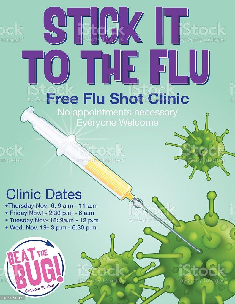 Influenza Shot Poster Template vector art illustration