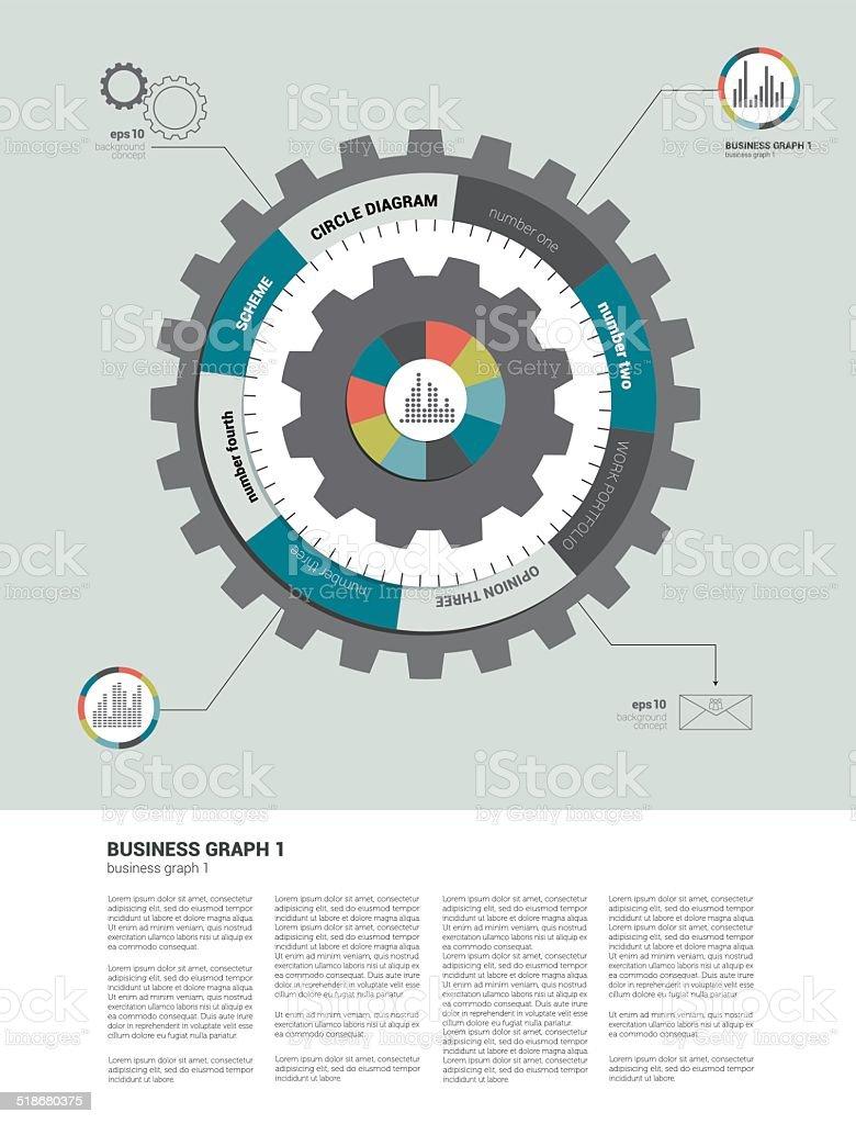 Info Grafik Circle Cog Rad Diagramm Stock Vektor Art und mehr Bilder ...