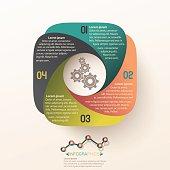 info graphic circle label design