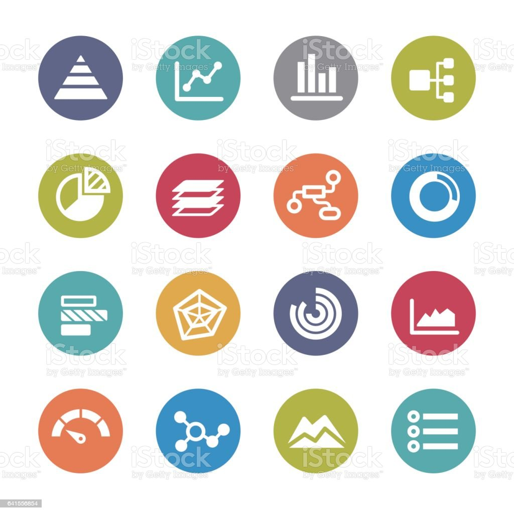 Info Graphic Icons - Circle Series vector art illustration