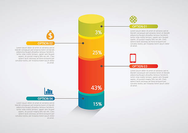info graphics - colorful graph,cylinder info graphics - colorful graph,cylinder cylinder stock illustrations