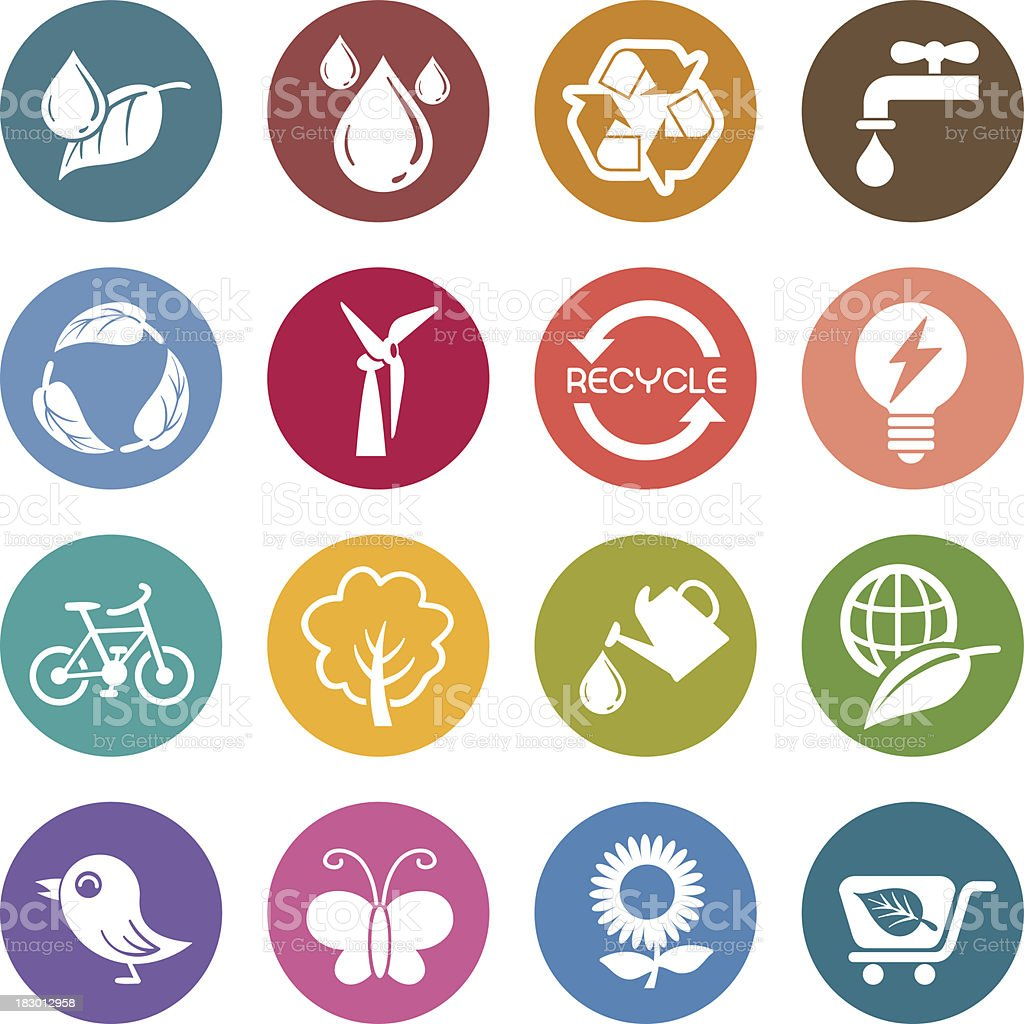 Info icon: Environment issue royalty-free stock vector art