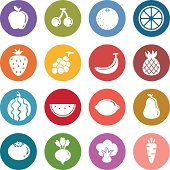Info icon: Fruits and vegetable