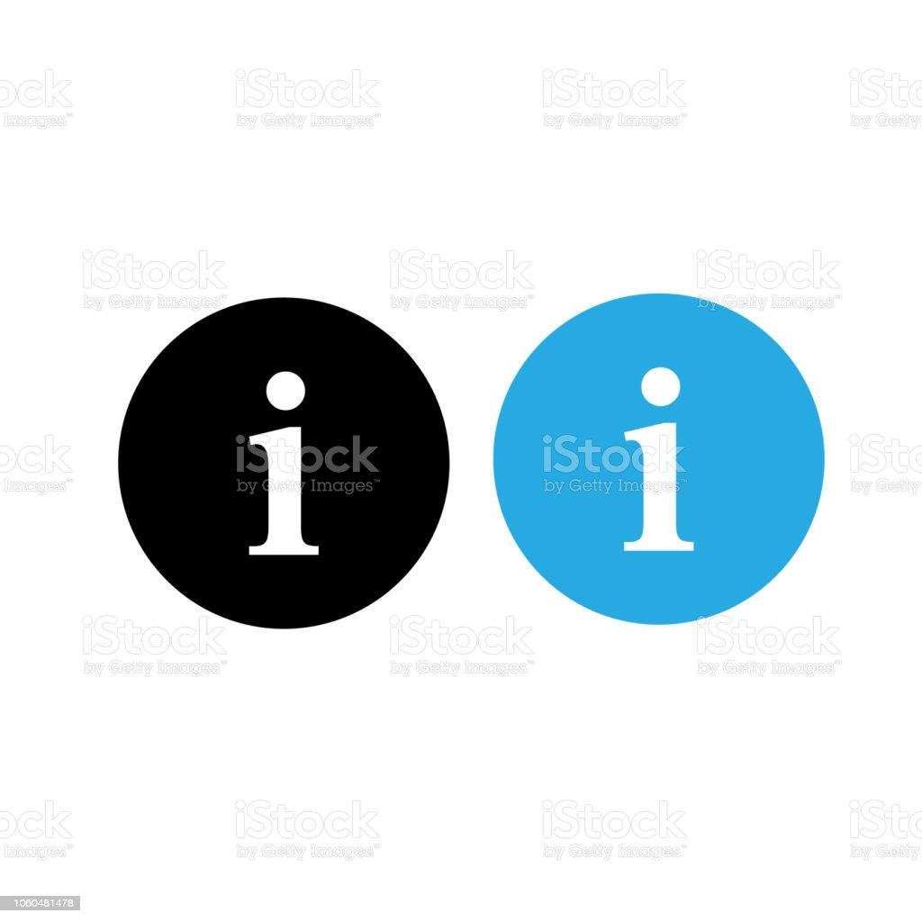 Info Icon Information Symbol App Vector Stock Illustration