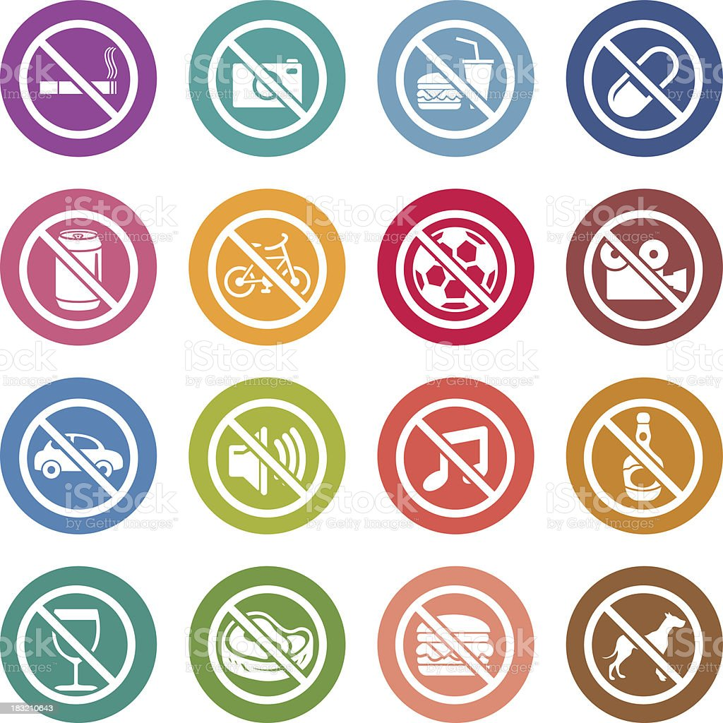 Info icon: Warning sign vector art illustration