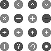 Info Icons Circle Outline Gray Color