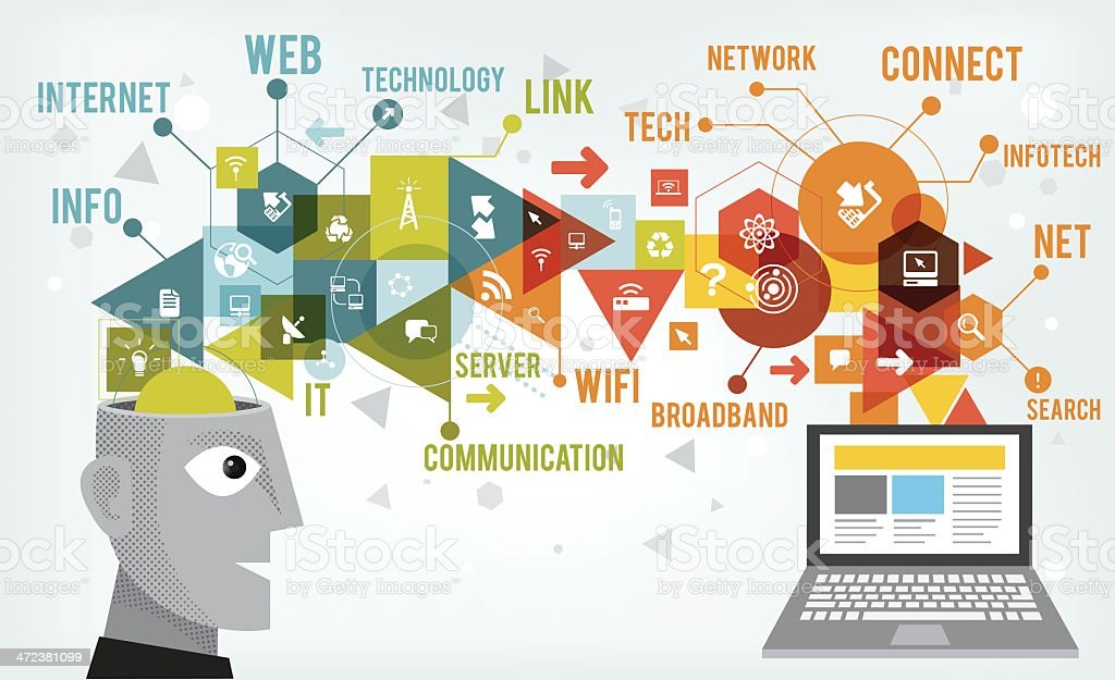 Info tech idea vector art illustration