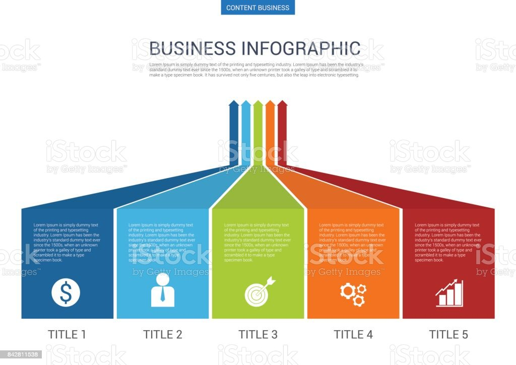 Infograhpic Business Presentation Slide Template With Arrow Diagram