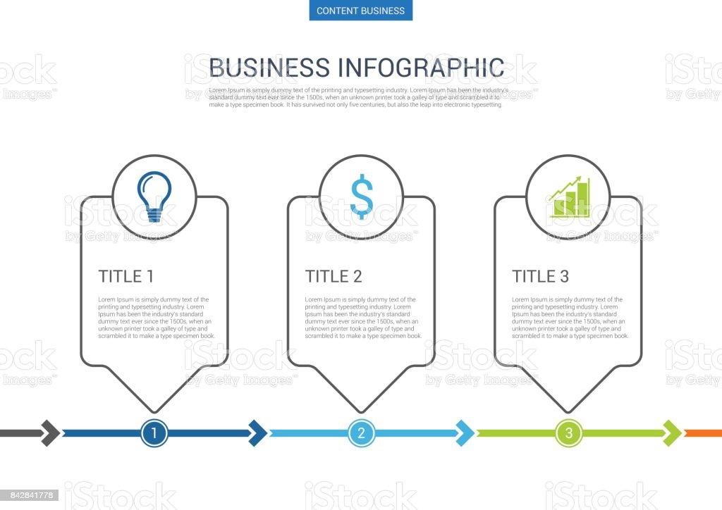 infograhpic ビジネス プレゼンテーション スライド ステップのプロセス