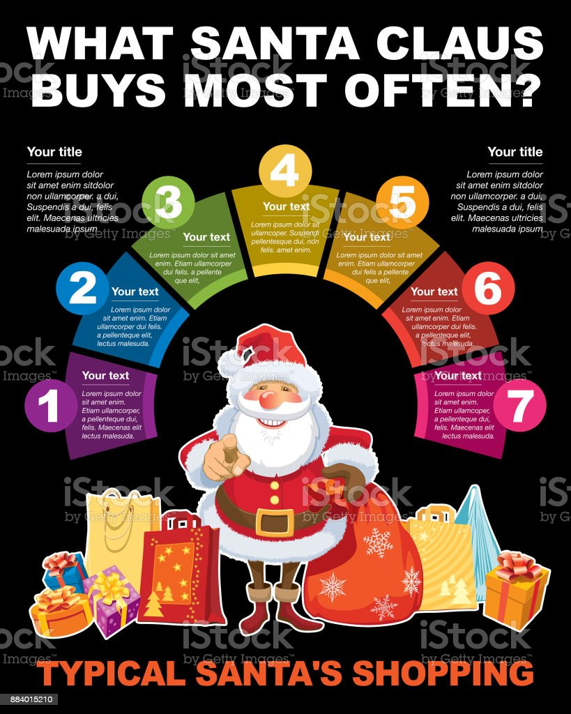 Infographic about shopping vector art illustration