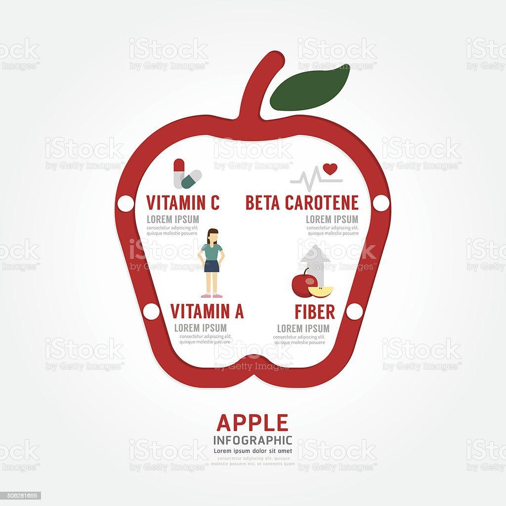 Apple Salute Concetto Infografica Progettazione Modello Immagini Vettoriali Stock E Altre Immagini Di Acchiappino Istock