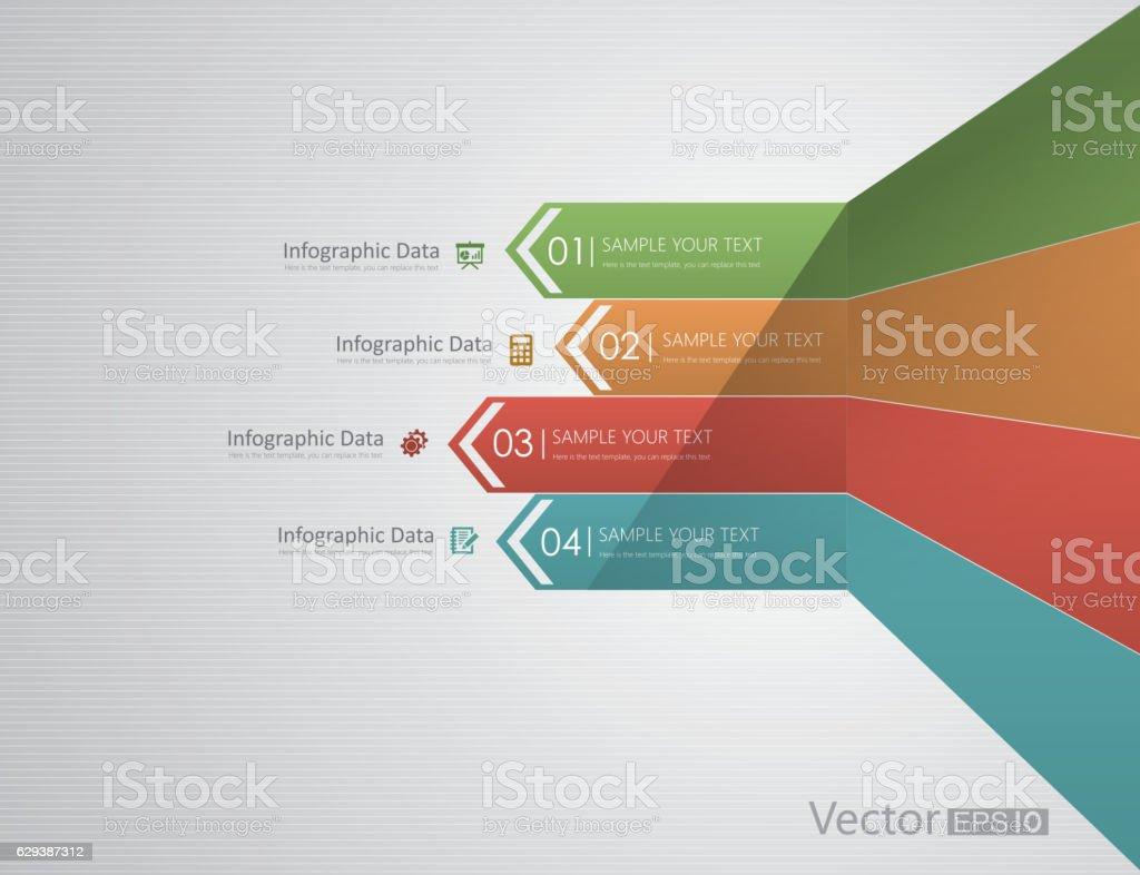 Flèches Infographie - Illustration vectorielle