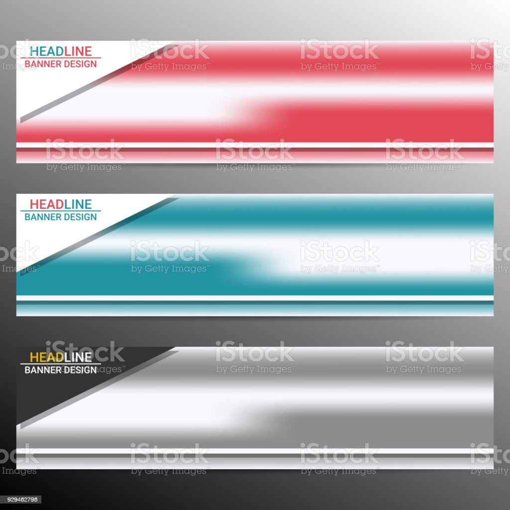 Infographic Banner Templates In Different Colors Vector