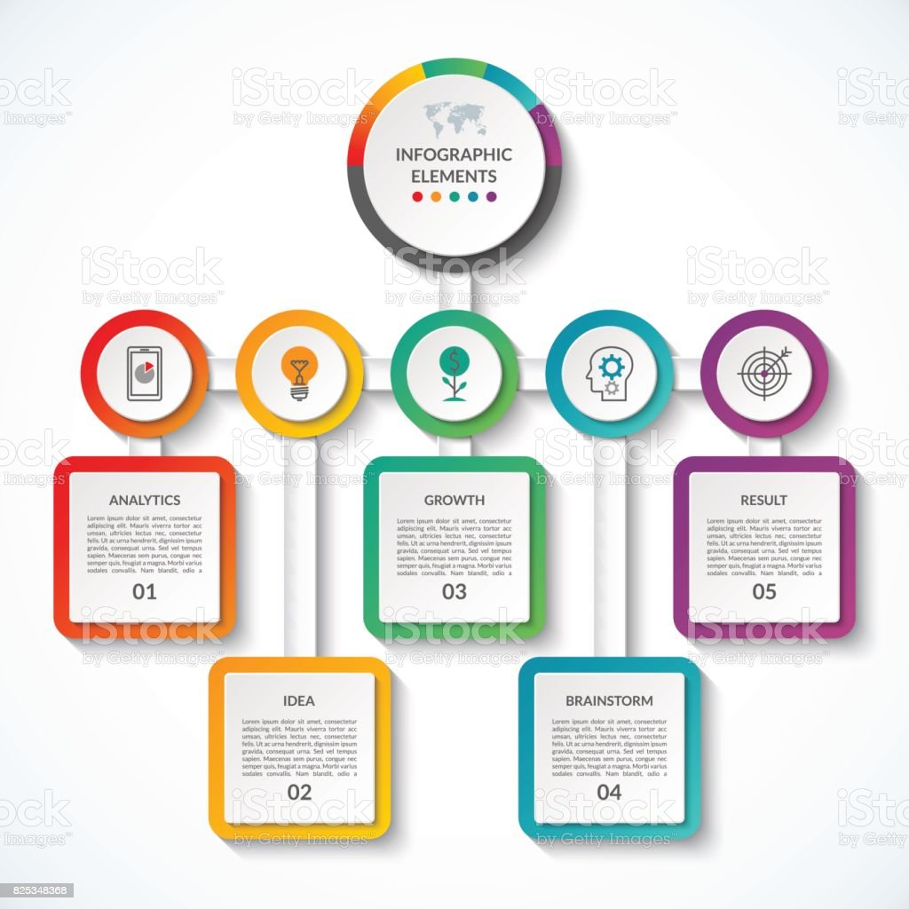 Infographic Banner With 5 Options Vector Template Can Be Used As Chart Diagram Graph Table Workflow Layout For Web Report Business Presentation Stock Illustration Download Image Now Istock