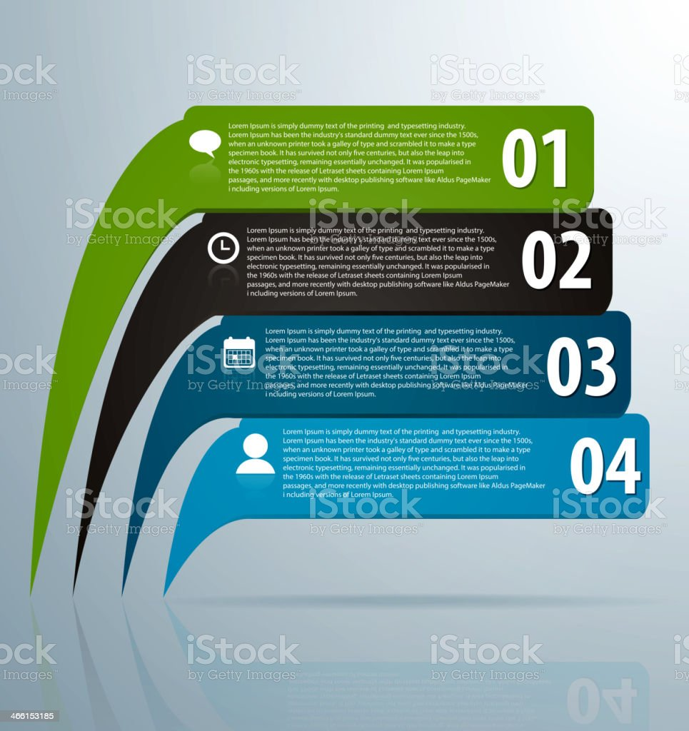 Infographic banners with icons and number royalty-free stock vector art