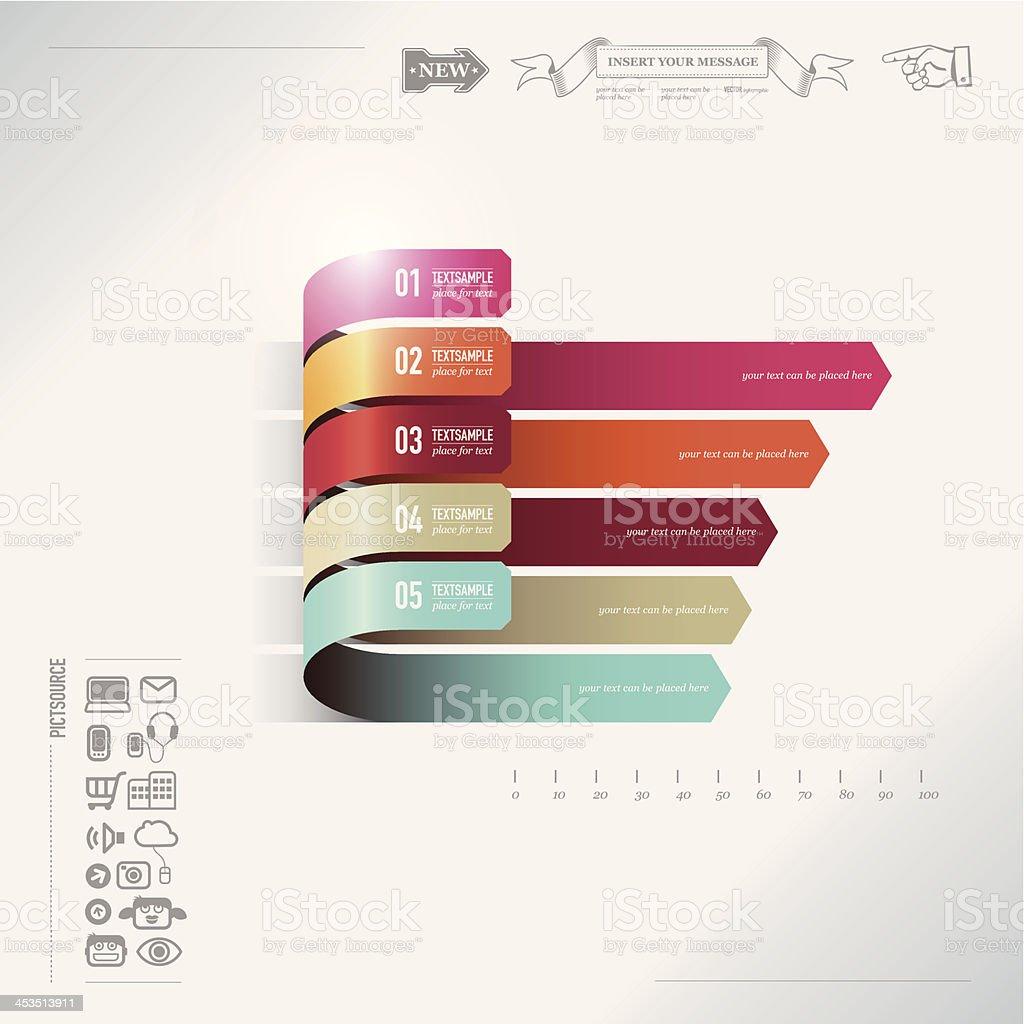 Infografik bar chart – Vektorgrafik