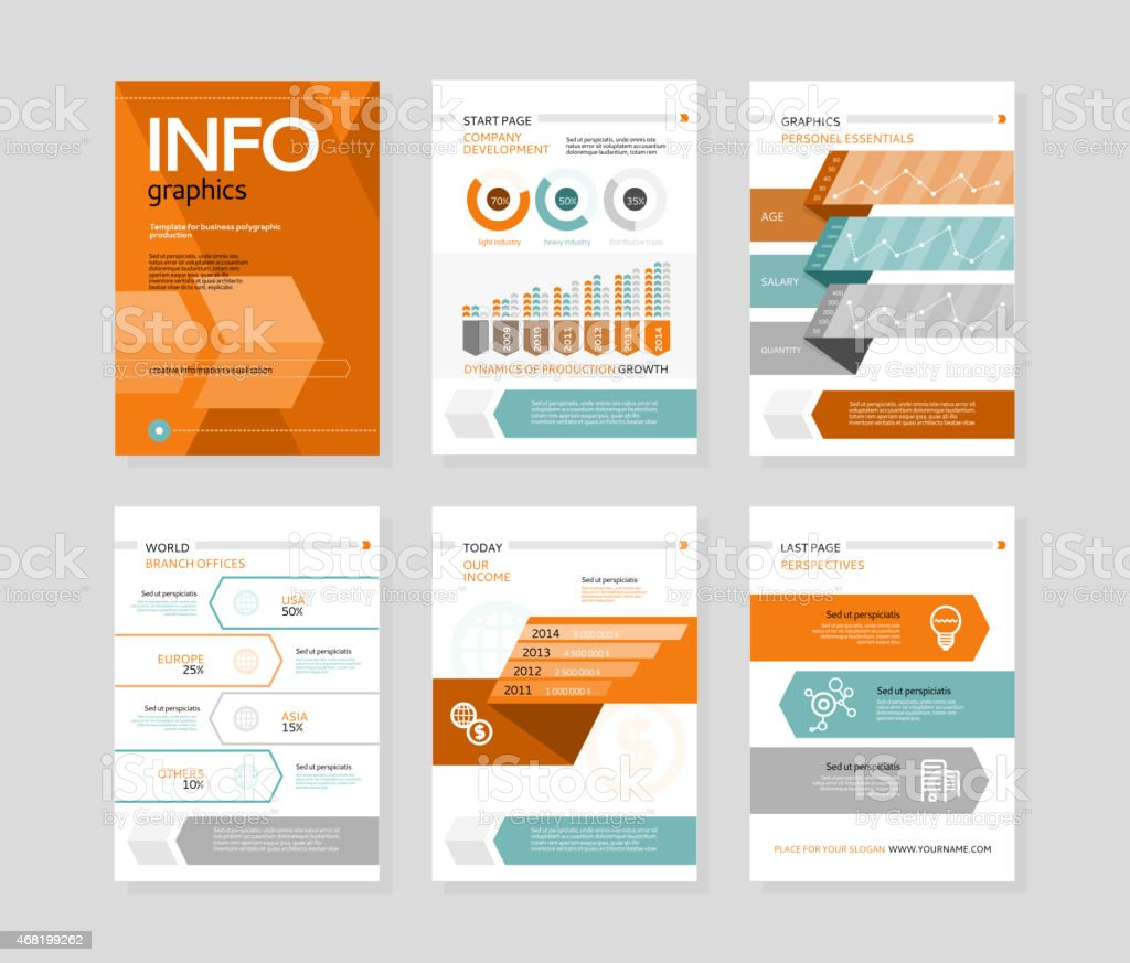 Infographic business brochures banners vector art illustration