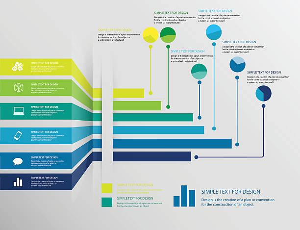 illustrations, cliparts, dessins animés et icônes de infographie graphique d'affaires set 1 - tableaux et graphiques
