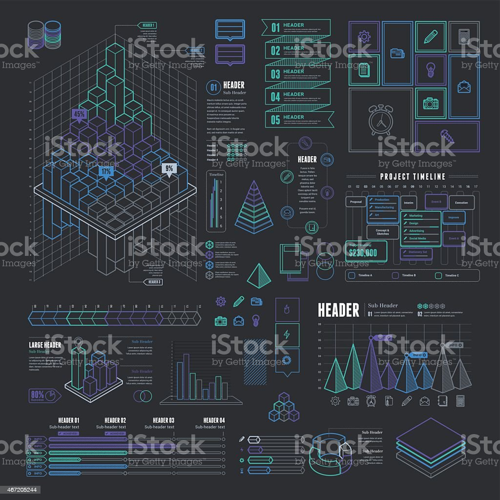 Info-graphic business model template vector art illustration
