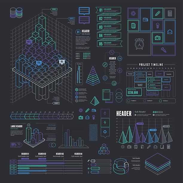 Info-graphic business model template vector art illustration