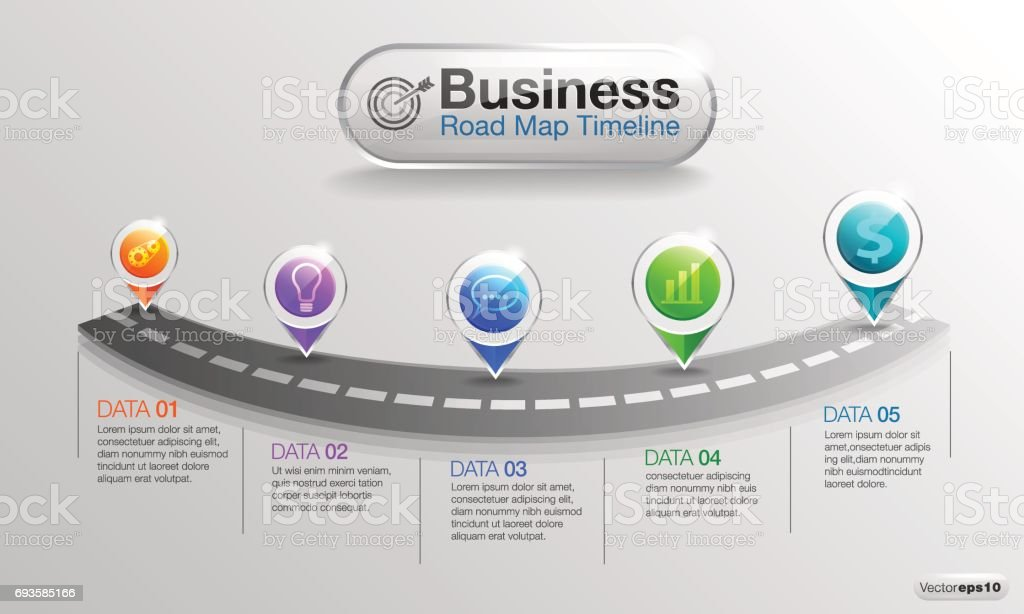 infographic business roadmap timeline 02 royalty free infographic business roadmap timeline 02 stock vector art