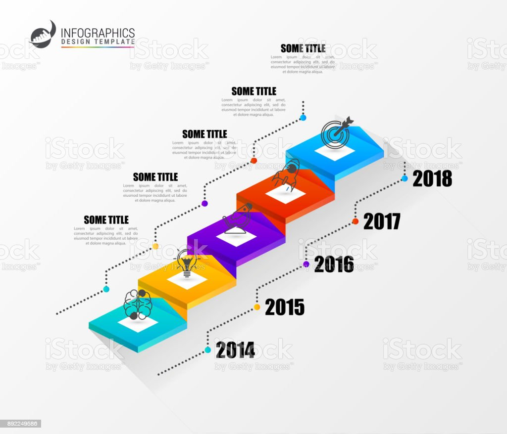 infographic business staircase concept modern design template stock