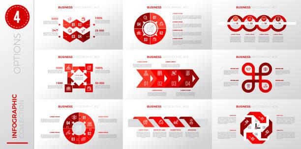 Infographic business template with 4 options. – artystyczna grafika wektorowa