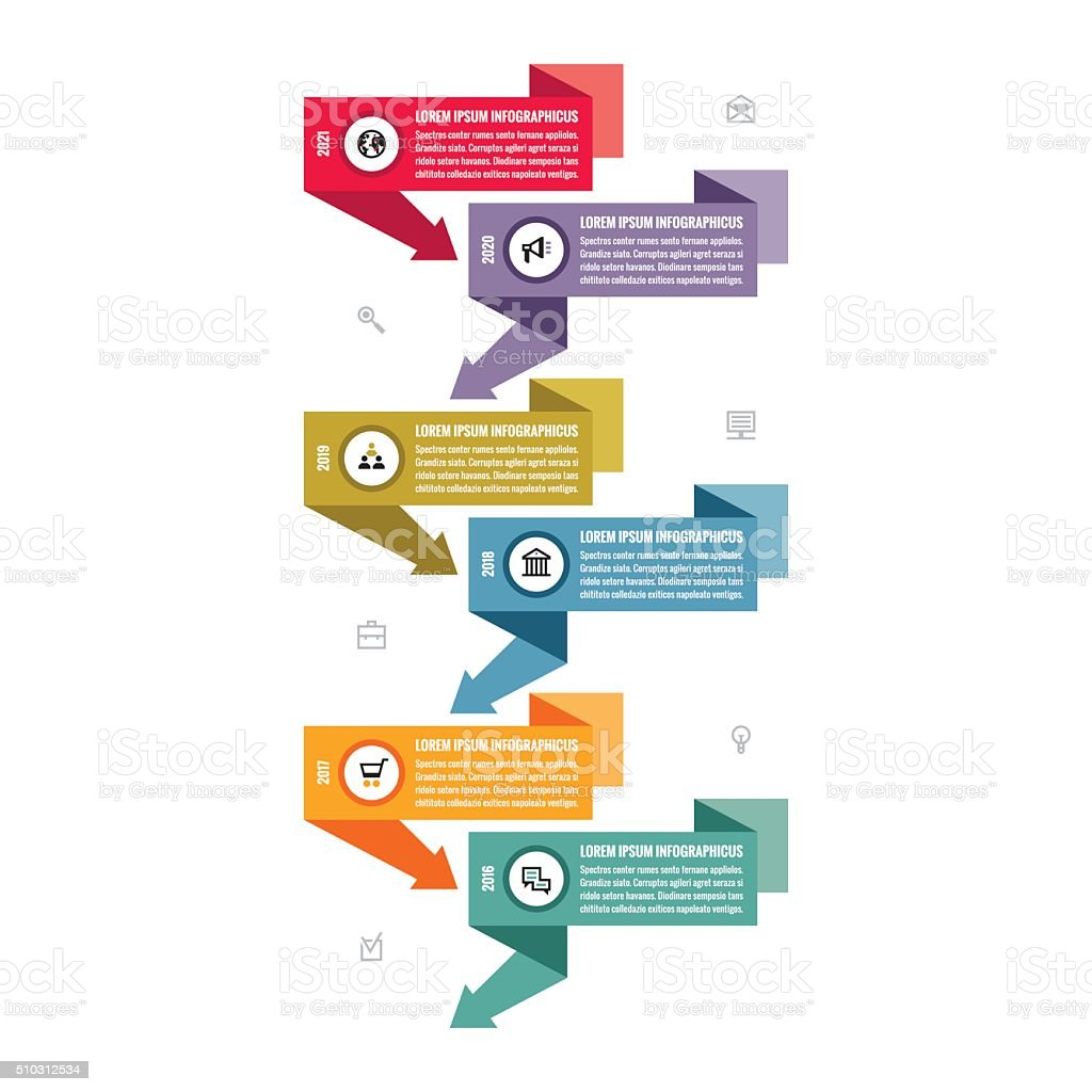 Infographic business vector concept in flat design style royalty-free stock vector art