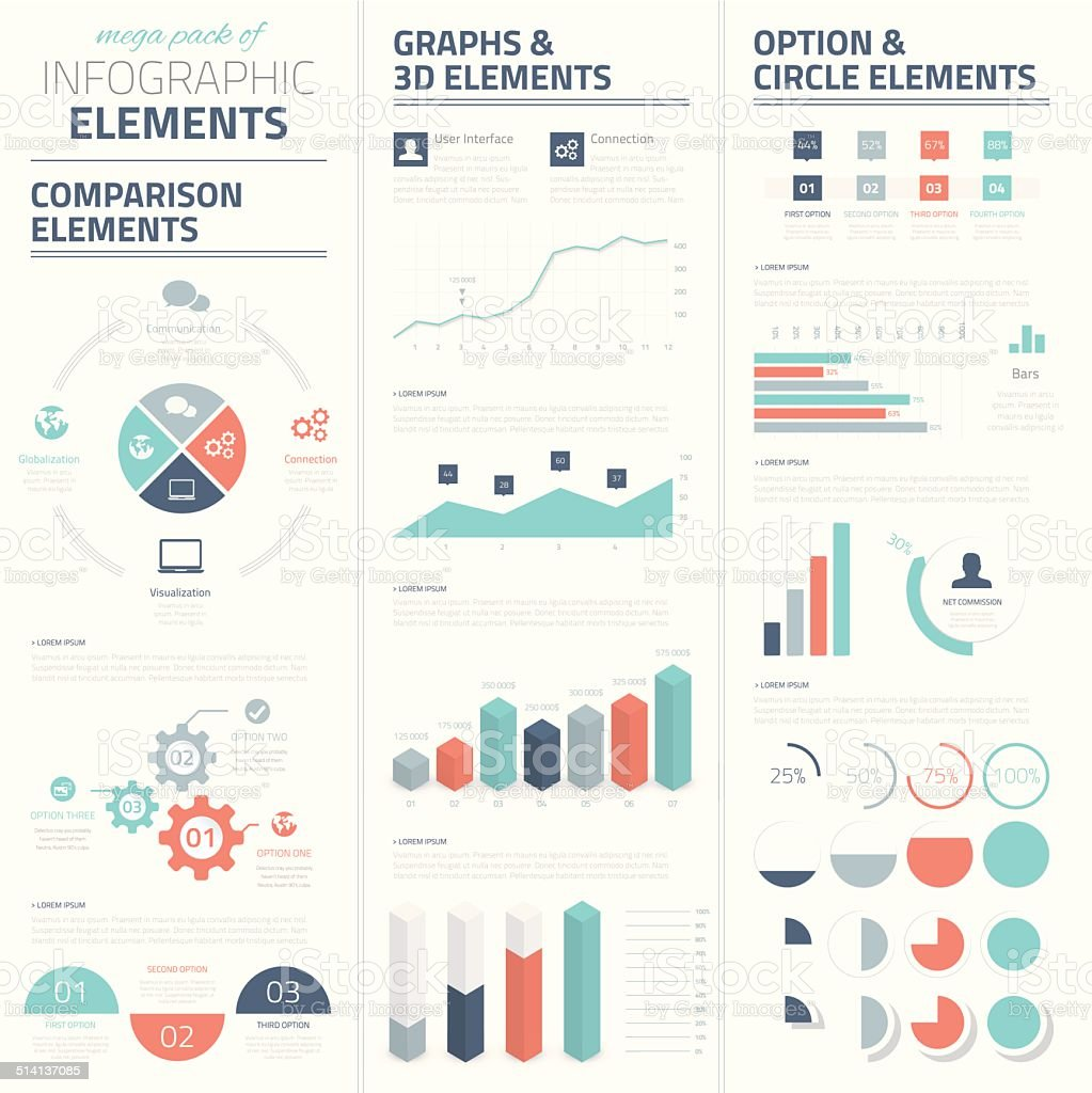 Infographic business vector elements collection vector art illustration