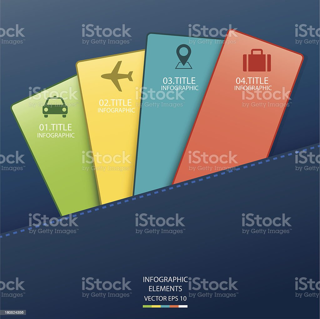 Infographic card vector art illustration