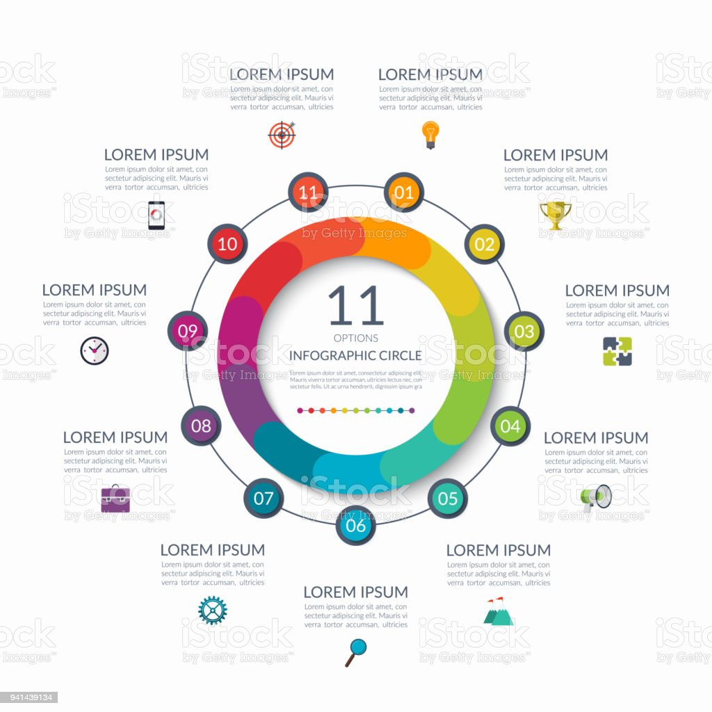 Infographic circle 11 options steps parts business concept for infographic circle 11 options steps parts business concept for diagram graph cheaphphosting Images