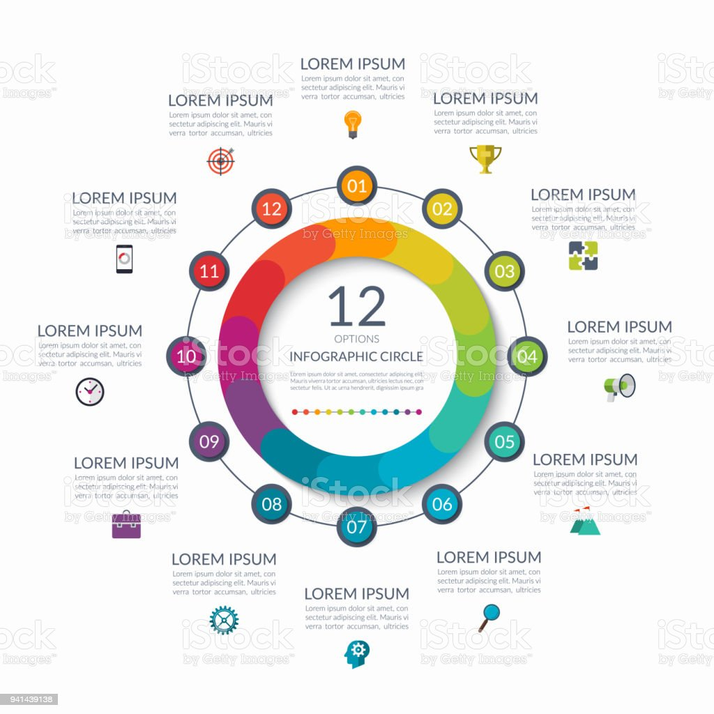 Infographic circle 12 options steps parts business concept for infographic circle 12 options steps parts business concept for diagram graph ccuart Images