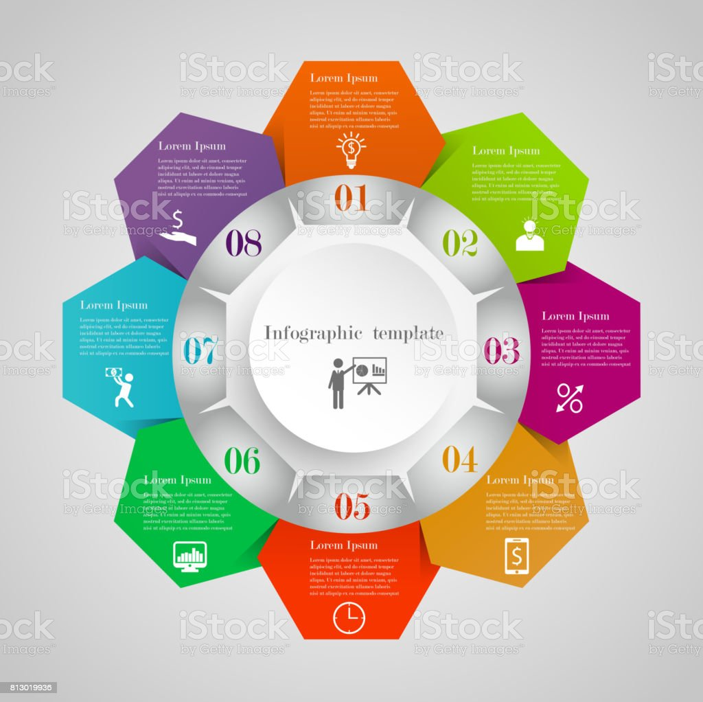 Infographic Circle Flowchart Template Stock Illustration Download Image Now Istock