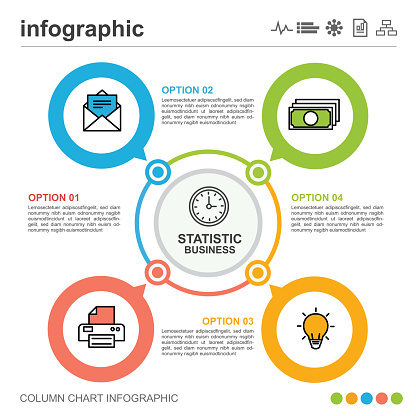 Infographic circle shape design with 4 options