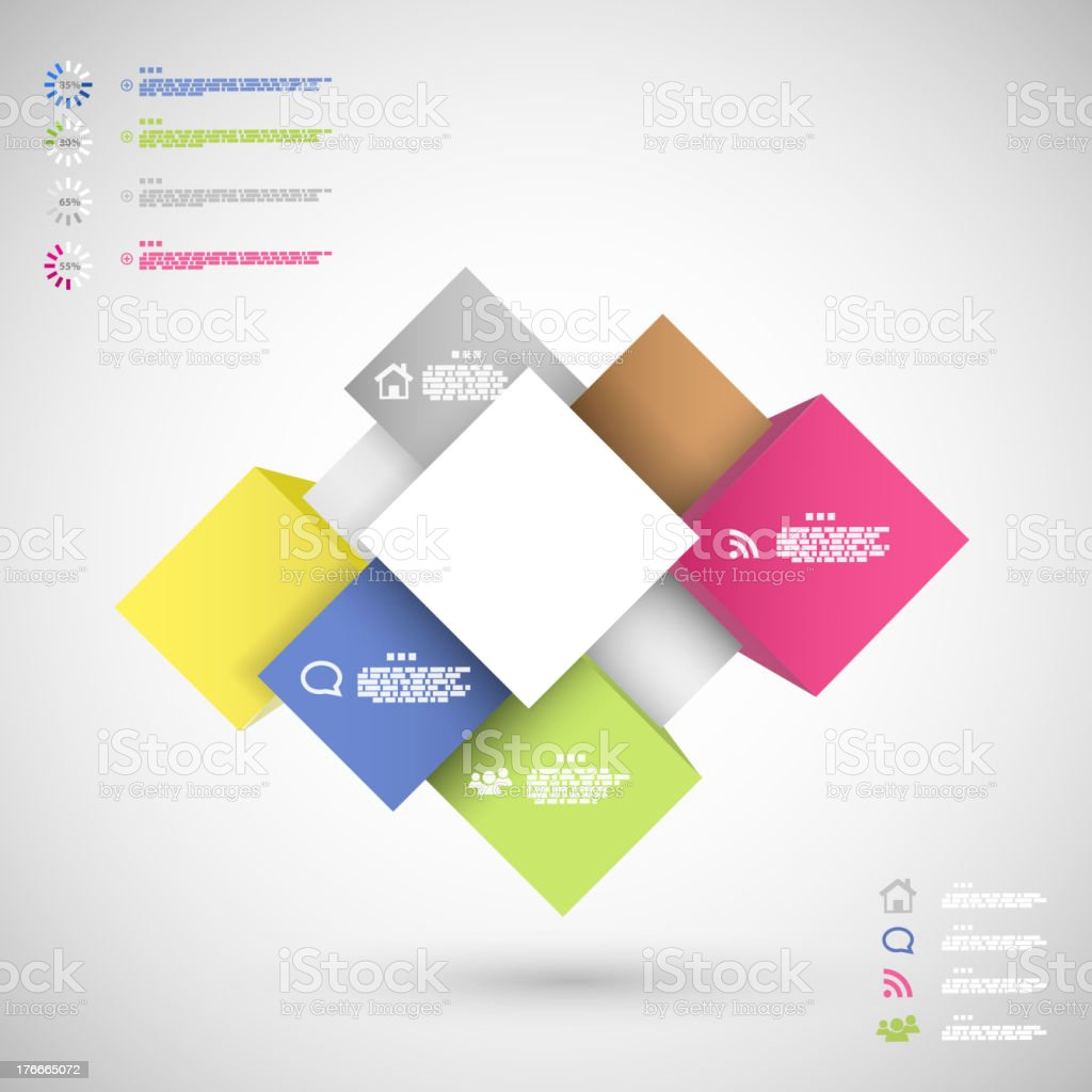 Infographic colorful cubes for data presentation royalty-free infographic colorful cubes for data presentation stock vector art & more images of business
