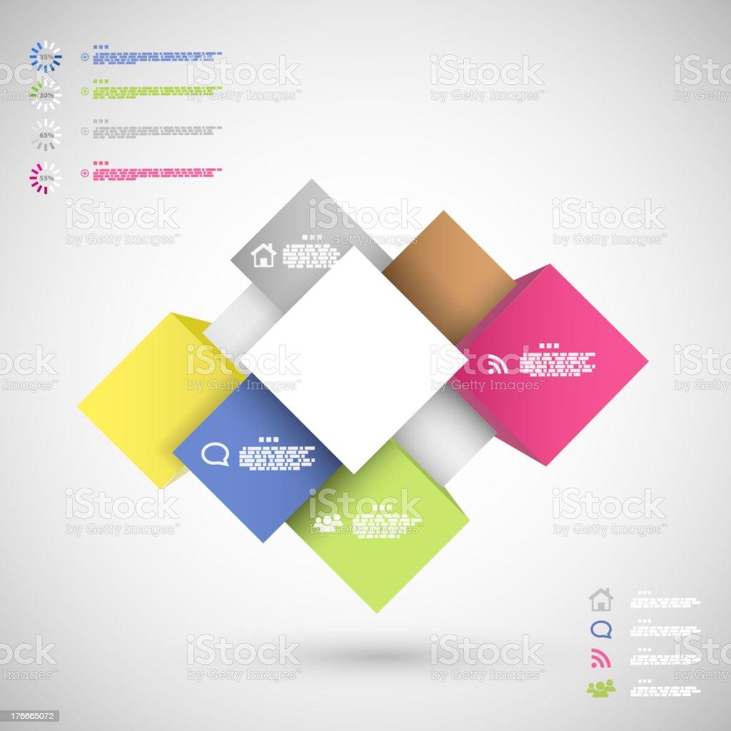 Infografía coloridos cubos para la presentación de datos ilustración de infografía coloridos cubos para la presentación de datos y más banco de imágenes de cartel libre de derechos