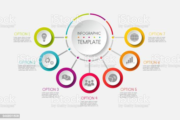 Infographic colourful template with business icons vector vector id946891808?b=1&k=6&m=946891808&s=612x612&h=qftito8m3amdvunnwmllpihmrgy245xgljijt71q41o=